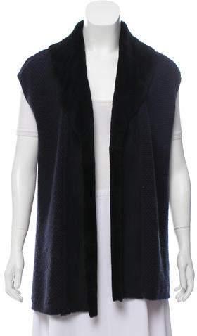 148 Cashmere Open Front Vest