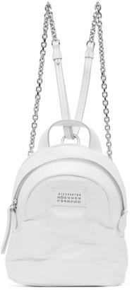 Maison Margiela White Glossed Glam Slam Backpack