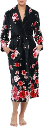 Jasmine Rose Floral-Print Tie-Waist Robe