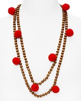 BaubleBar Grenada Pom-Pom Beaded Necklace, 29""