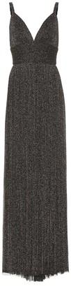 Elie Saab Metallic stretch-knit gown