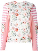 Comme des Garcons floral longsleeved knitted top