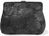 Clare Vivier Pierlot Supreme Laser-cut Leather Clutch - Black