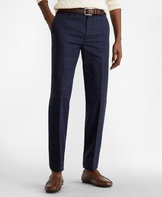 Brooks Brothers Milano Fit Windowpane Stretch Advantage Chino Pants