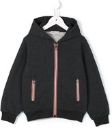 Moncler striped panel zip-up hoodie