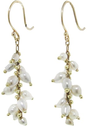 Ten Thousand Things Tahitian Pearl Signature Short Spiral Yellow Gold Earrings