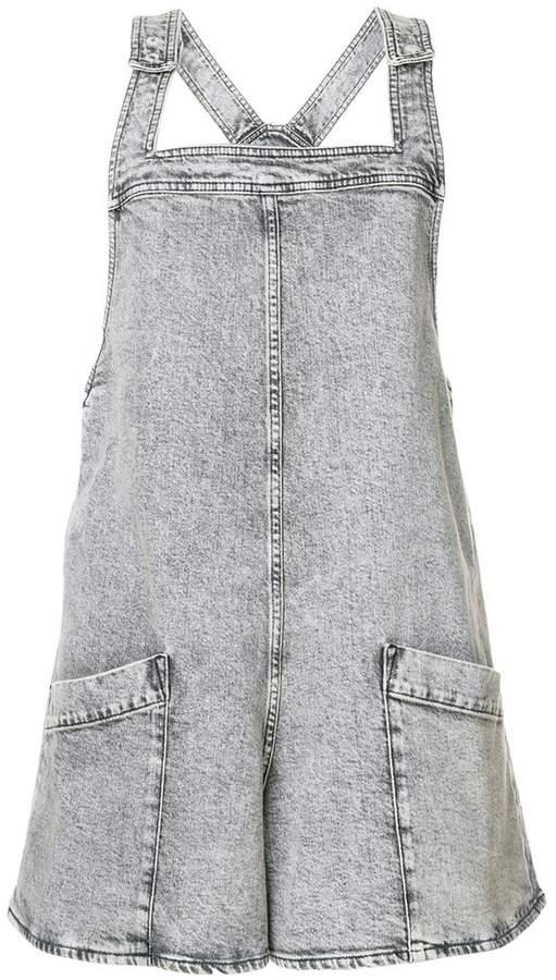 Stella McCartney denim dungarees shorts
