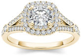 MODERN BRIDE 1 CT. T.W. Round White Diamond 14K Gold Engagement Ring