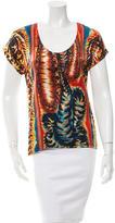 Barbara Bui Silk Printed T-Shirt w/ Tags