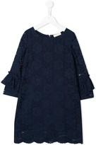 MonnaLisa lace embroidered shift dress