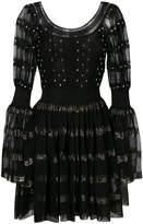 Alexander McQueen embroidered flared dress