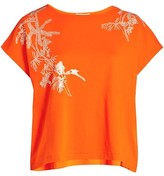 Thumbnail for your product : Joan Vass, Plus Size Embroidered Leaf Big T-Shirt