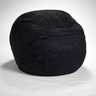 Grove Lane Bean Bag Chair Grovelane Fabric: Black