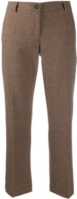 Semi-Couture Checked Cropped Trousers