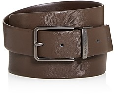 Giorgio Armani Men's Reversible Coated Leather Belt