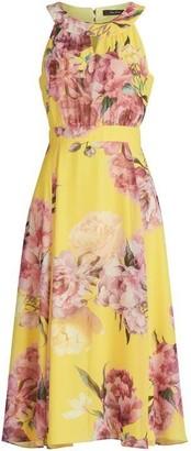 Vera Mont Floral Print Midi Dress