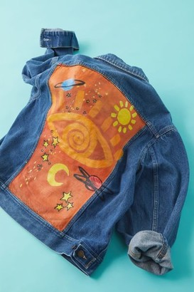 Urban Renewal Vintage X Hansel Clothing Hand Painted Denim Jacket