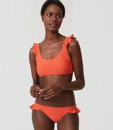 LOFT Beach Ruffle Bralette Bikini Top