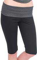Magid Black & Charcoal Fold-Over Capri Leggings - Plus Too