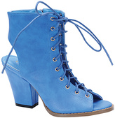Blue Milano Lace-Up Bootie