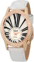 Burgi Women's BUR058WT Swiss Quartz Diamond Strap Watch