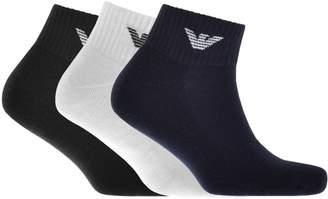 Giorgio Armani Emporio 3 Pack Trainer Socks