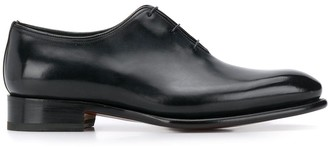 Santoni Pointed Lace Up Oxford Shoes