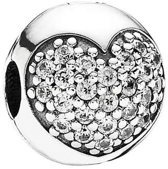 Pandora Moments Collection Silver Cz Love Of My Life Clip Charm