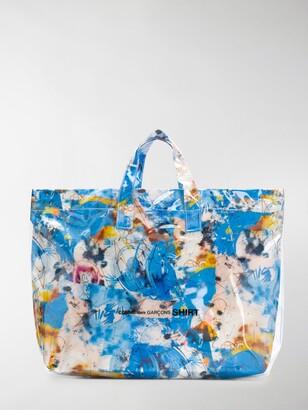 Comme des Garçons Shirt Floral Print Tote Bag