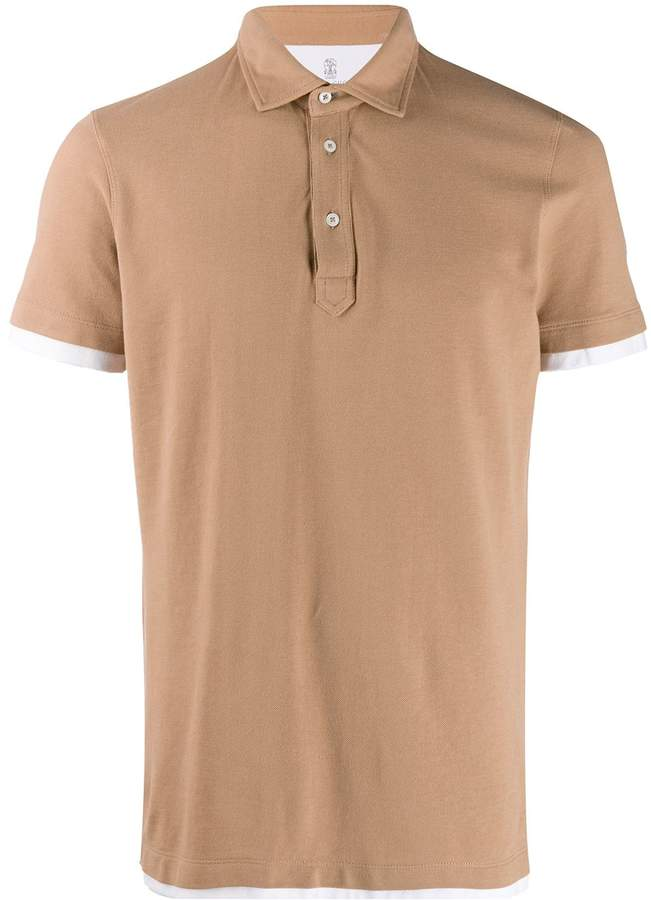 Brunello Cucinelli layered polo shirt
