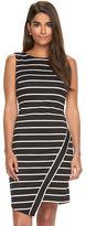 Petite Suite 7 Asymmetrical Striped Sheath Dress
