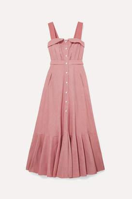 Anna Mason - Olivia Cotton-drill Striped Maxi Dress - Red