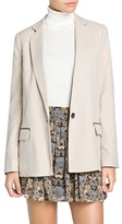 MANGO Outlet Contrast Trim Straight-Fit Blazer