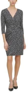 Jessica Howard Petite Twist-Front Surplice Dress