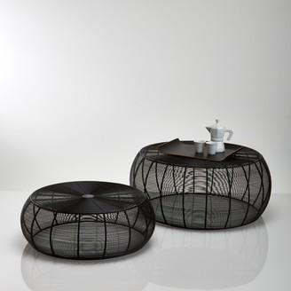 La Redoute La BANGOR Steel Wire Round Coffee Tables (Set of 2)