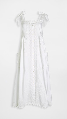 Juliet Dunn Tie Shoulder Dress
