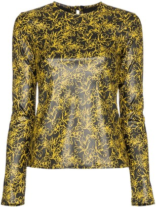 Markoo floral print fitted top