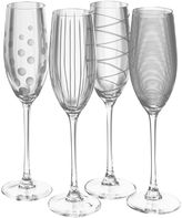 Mikasa Cheers Set of 4 Champagne Flutes