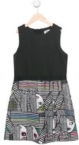 Milly Minis Girls' Face Patterned A-Line Dress