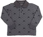 Officina51 Men's Skull-Pattern Piqué Polo Shirt-GREY