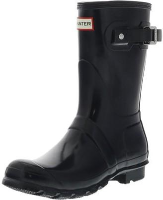 Hunter Womens Original Short Gloss Rain Boots - Navy - Size 7