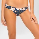 Tori Praver Seafoam Women's Floral Cheeky Hipster Bikini Bottom - Indigo Blue
