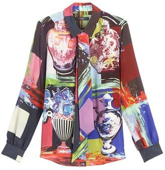 Max Mara Silk Printed Rail Shirt