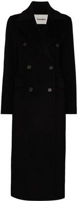 Nanushka Double-Breasted Midi Coat