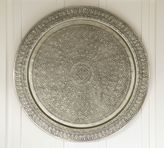 Pottery Barn Decorative Metal Disc - Silver