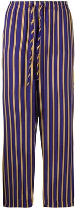 Esteban Cortazar Striped Drawstring Trousers