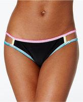 Hula Honey Colorblocked Low-Rise Bikini Bottoms