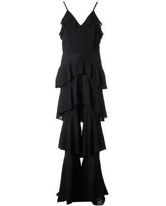 Forever Unique Tiered Chiffon Jumpsuit Colour: BLACK, Size: 8