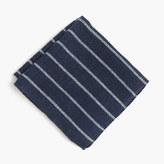 J.Crew English wool-silk pocket square in stripe