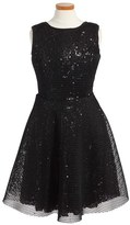 Menu Girl's Sequin Mesh Dress